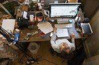 miejsce pracy, komputer, biurko