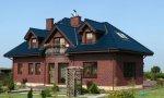 Dom jednorodzinny, elewacja z cegły klinkierowej